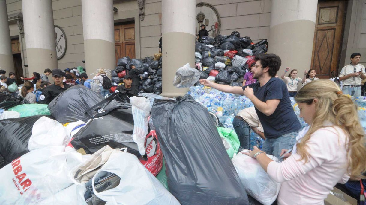 """""""Las personas son las que ayudan"""". Foto: Fernando Calzada."""