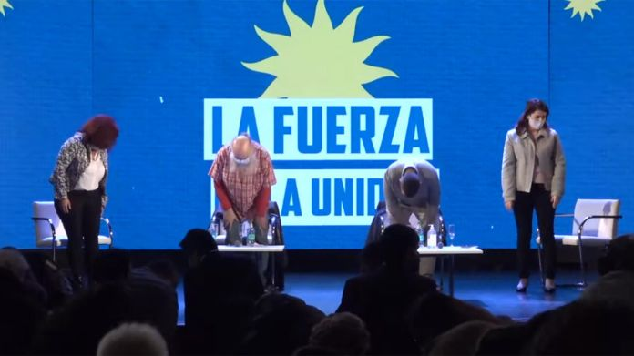 acto movimientos sociales Alberto Fernández o solo como acto movimientos sociales