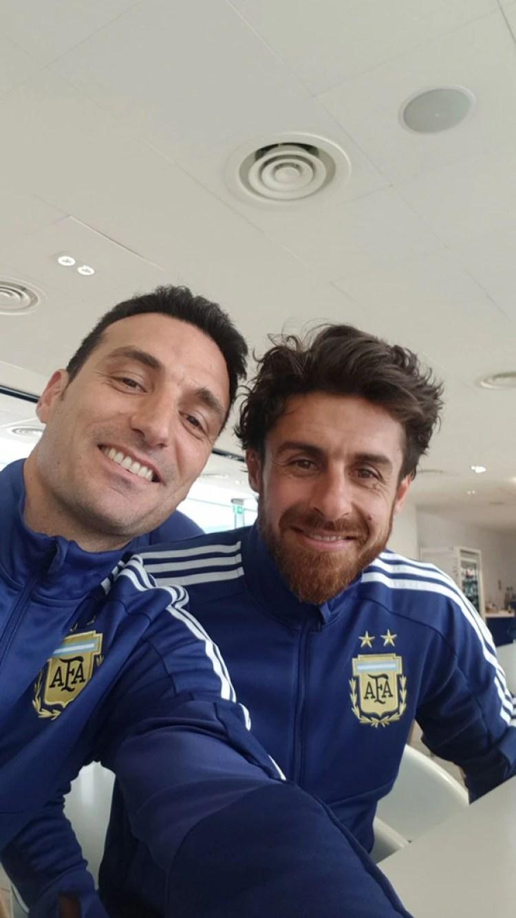 Lionel Scaloni y Pablo Aimar, la dupla que viajó a L'Alcudia