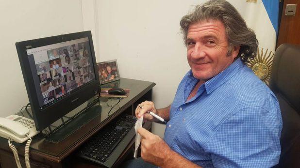 José Luis Ramón en teleconferencia con Meoni