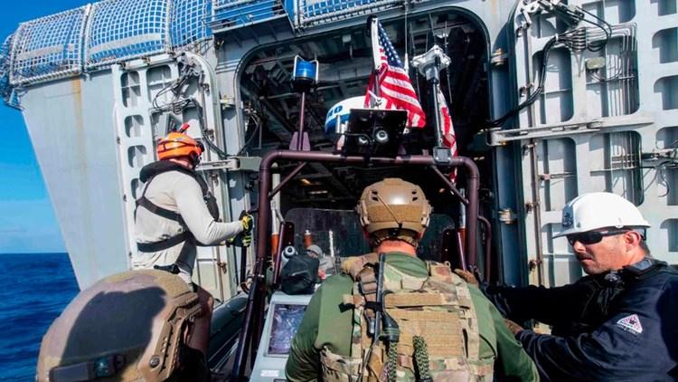 La Armada norteamericana despliega buques para luchar contra el tráfico de drogas
