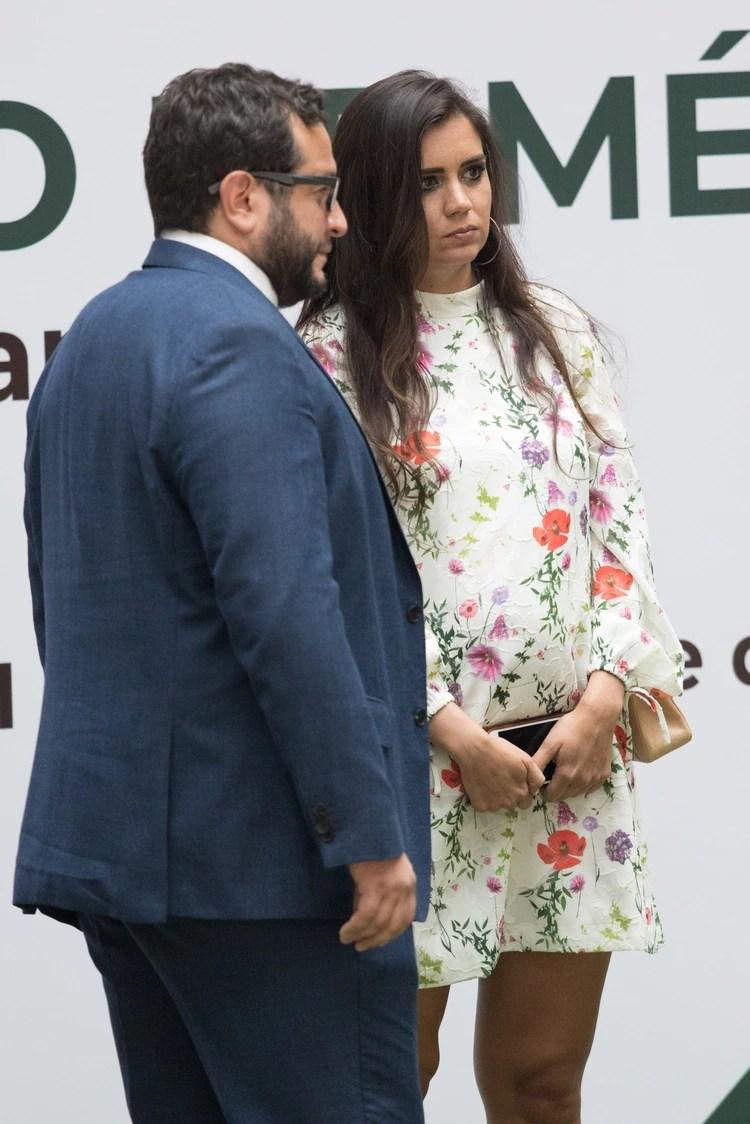 Carolina Adams dejó ver su embarazo (FOTO: MOISÉS PABLO /CUARTOSCURO.COM)