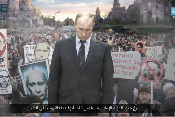 El video incluye amenazas contra el gobierno de Vladimir Putin