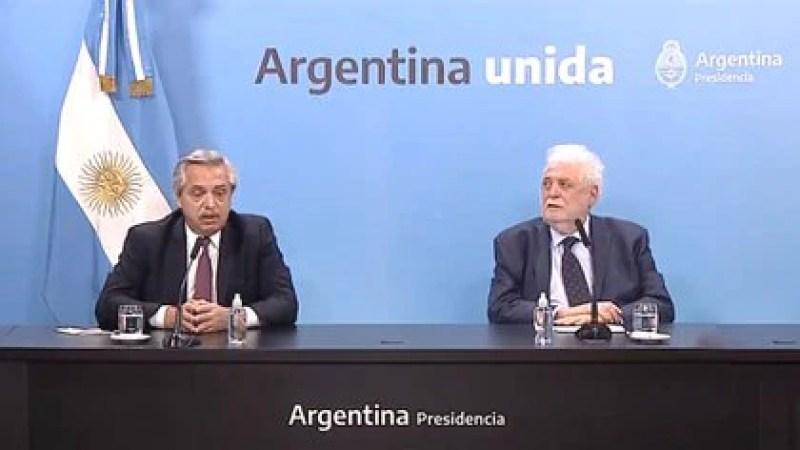 El presidente Alberto Fernández y el ministro de Salud Ginés González García dieron detalles de la llegada de la vacuna rusa al país