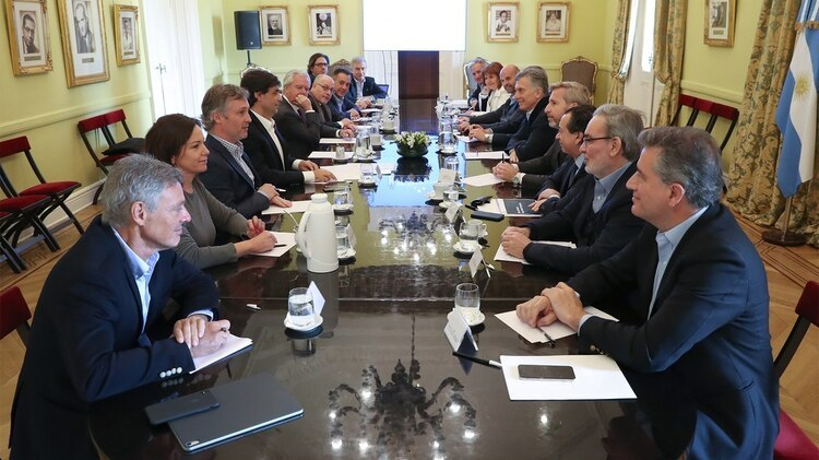 Reunión de Gabinete de ayer. Peña está, pero no aparece en la foto.