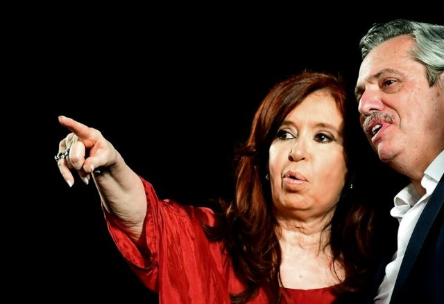 Cristina Kirchner y Alberto Fernández (Photo by RONALDO SCHEMIDT / AFP)