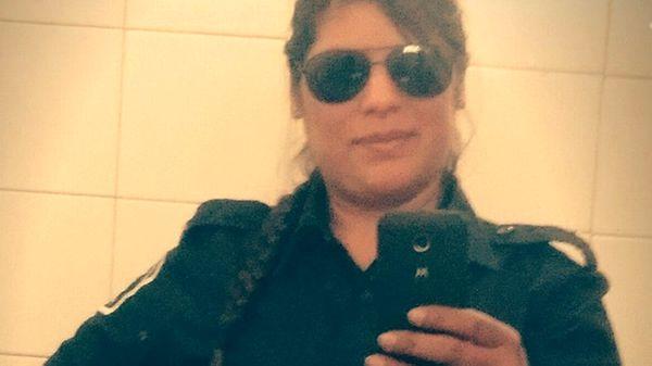 Romina Maguna, en uniforme de la Policía Bonaerense.
