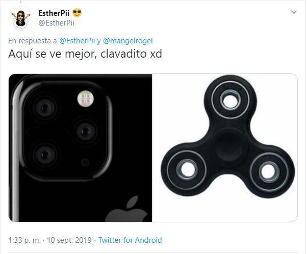 En este ejemplo, el juguete tiene el mismo color que el teléfono y el diseño resulta familiar. (Foto: Twitter)