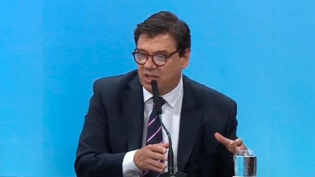 Claudio Moroni, ministro de Trabajo.