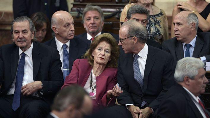 Los miembros de la Corte Suprema, en la apertura de sesiones ordinarias de 2019 en el Congreso