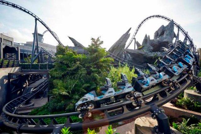 Uno de los juegos mecánicos de Walt Disney World Resort (Foto: EFE)