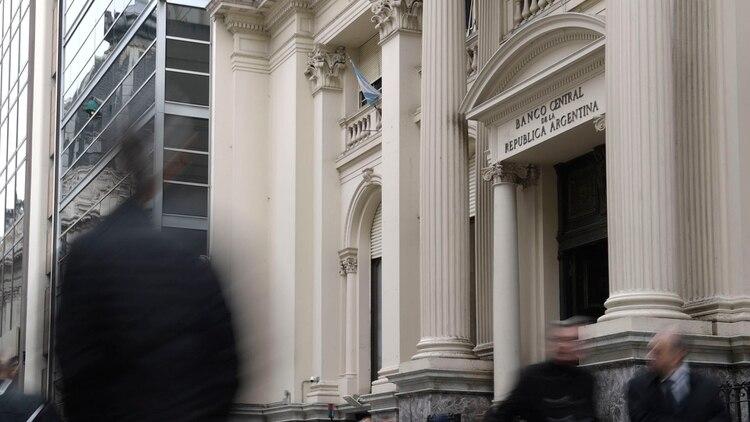 La sede del Banco Central, en la City porteña