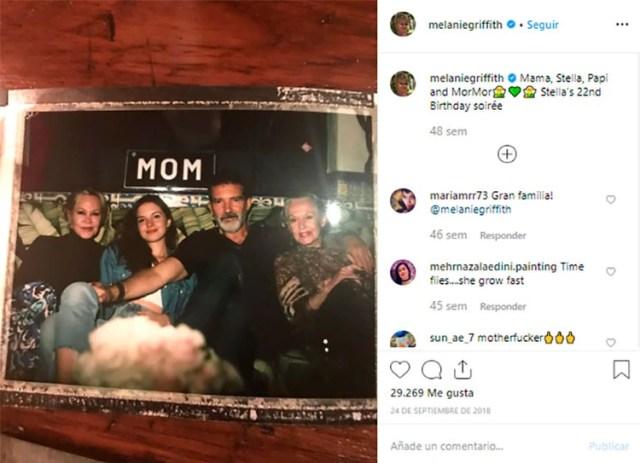 Los mensajes afectuosos de Melanie Griffith en su cuenta de Instagram