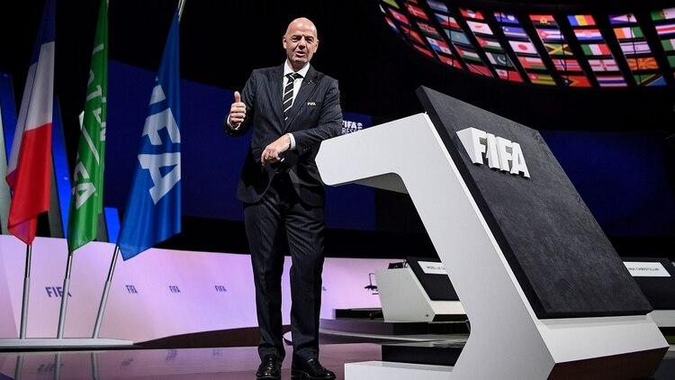 Gianni Infantino renovó su mandato en la FIFA hasta 2023 (AFP)