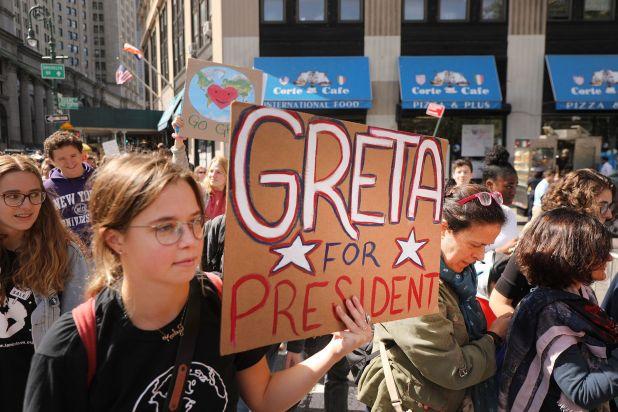 Una joven postula a Greta como presidente en EEUU (AFP)