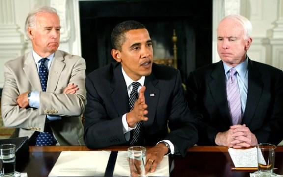 Joe Biden, Obama y McCain.