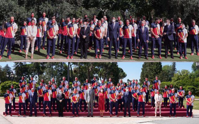 16-07-2021 Pedro Sánchez y los Reyes reciben a los deportistas olímpicos ESPAÑA EUROPA DEPORTES MADRID EUROPA PRESS/COE
