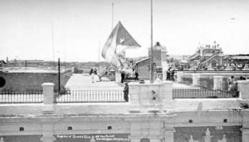 El 20 de mayo de 1902 Cuba logró su independencia de España. La bandera cubana el 20 de mayo de 1902.