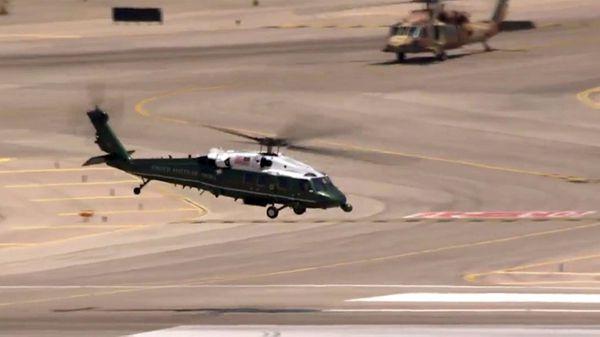 El Marine One transportó al presidente Trump desde Tel Aviv hasta Jerusalén
