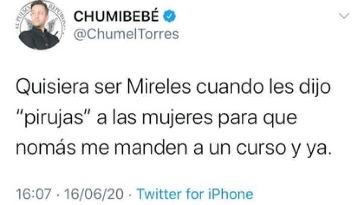 Twits Chumel Torres (Foto: Twitter@ChumelTorres)