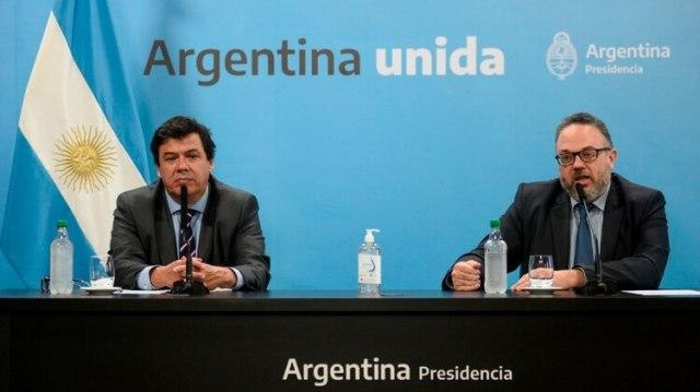 El ministro de Trabajo Claudio Moroni y el ministro de Desarrollo Productivo Matías Kulfas