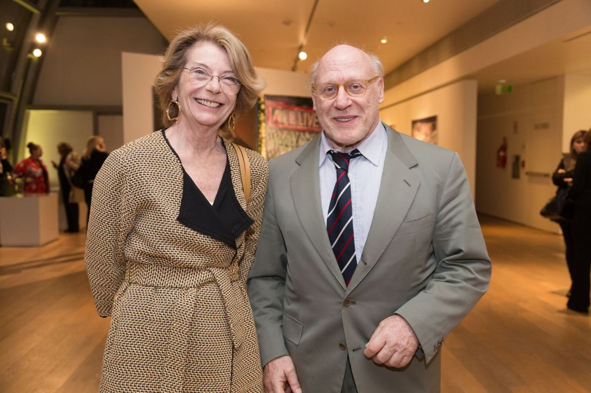 Canela Von Buch junto al presidente de la Asociación Amigos del Museo Nacional de Bellas Artes y, además, presidente de la Cámara Argentina de la Construcción,, Julio Cesar Crivelli