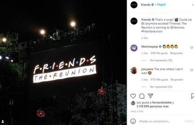 """El reencuentro de """"Friends"""""""