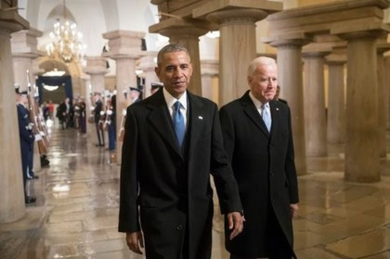 Barack Obama and Joe Biden on the day of Donald Trump's inauguration as US president (REUTERS / J. Scott Applewhite / Pool)