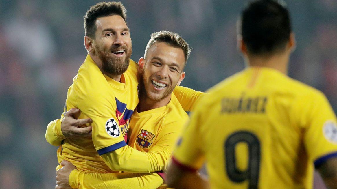 El Barcelona es líder de su grupo REUTERS/David W Cerny