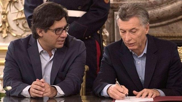 Mauricio Macri junto al ministro Germán Garavano (Adrián Escándar)