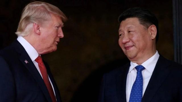 Donald Trump, presidente de Estados Unidos, y su par chino Xi Jinping