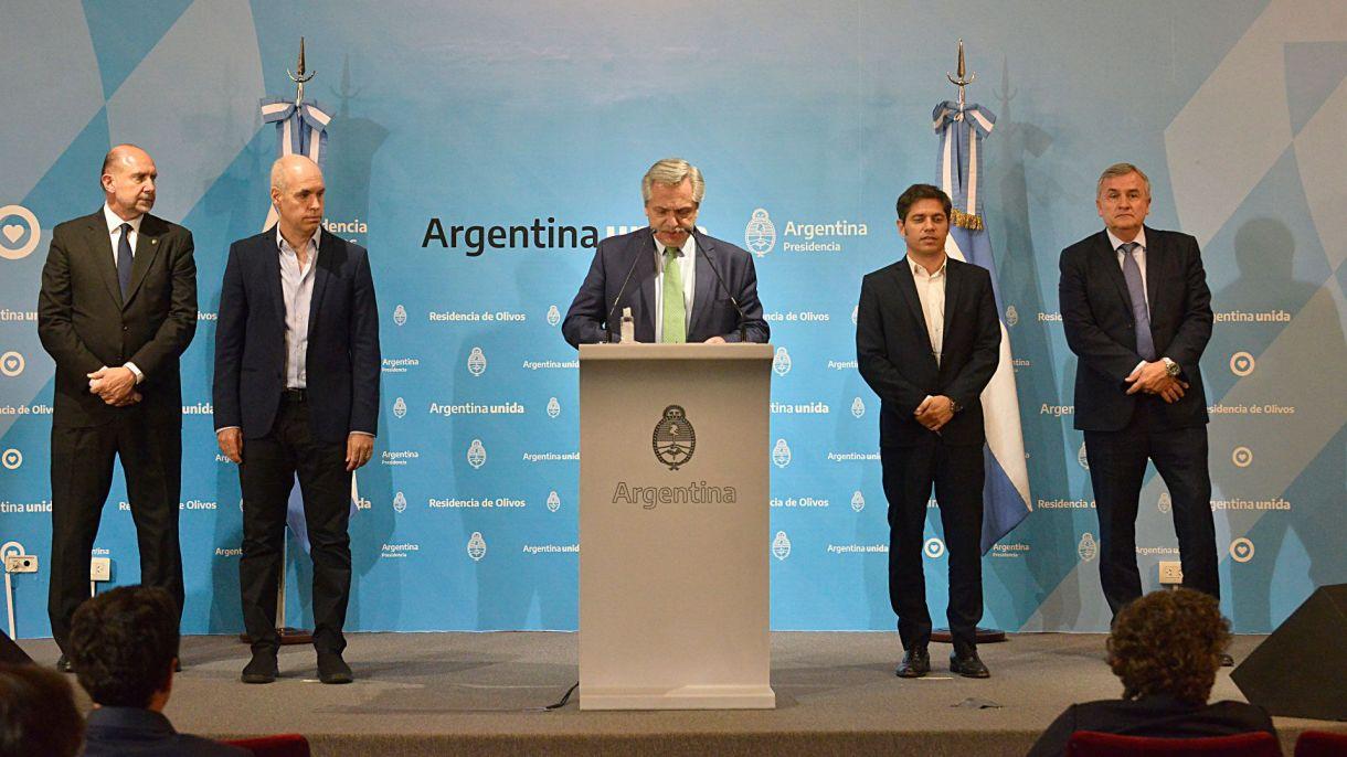 Alberto fernandez anuncio cuarentena coronavirus perotti morales kicillof larreta