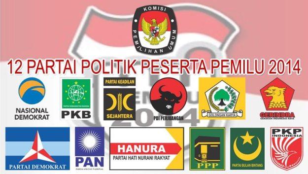 12 partai peserta pemilu 2014 indonesia