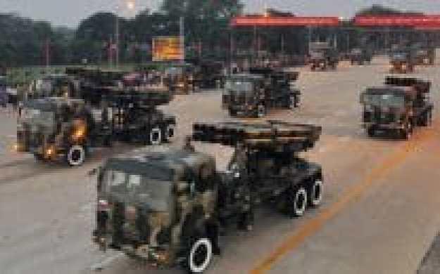 parade kekuatan tentara myanmar