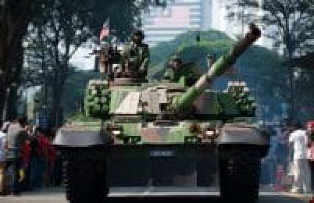 unjuk kekuatan militer malaysia