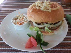 Lost Horizon Resort Restaurant cheese burger