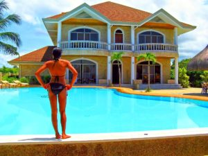 Alex Pool Inaw Beach Resort Panglao Bohol Bikini