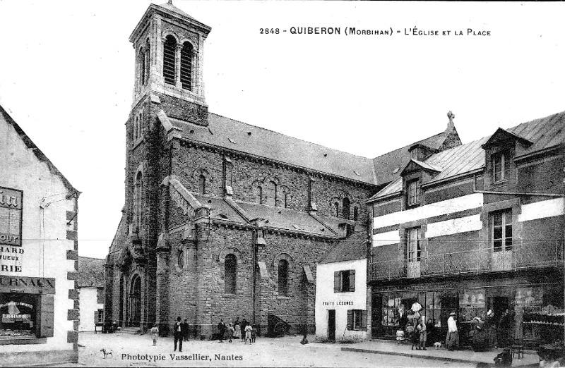 Eglise de Quiberon (Bretagne).