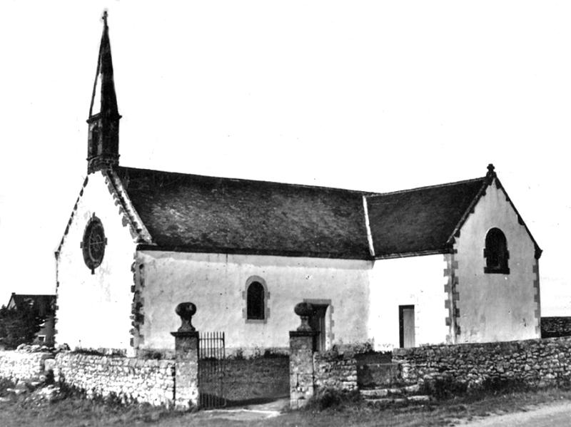 Ville de Quiberon (Bretagne) : chapelle de Lotivy.