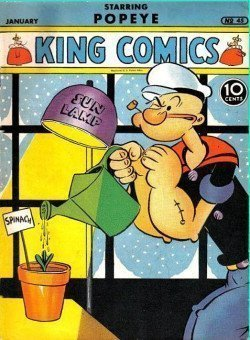 ¿Eran espinacas lo que tomaba Popeye?