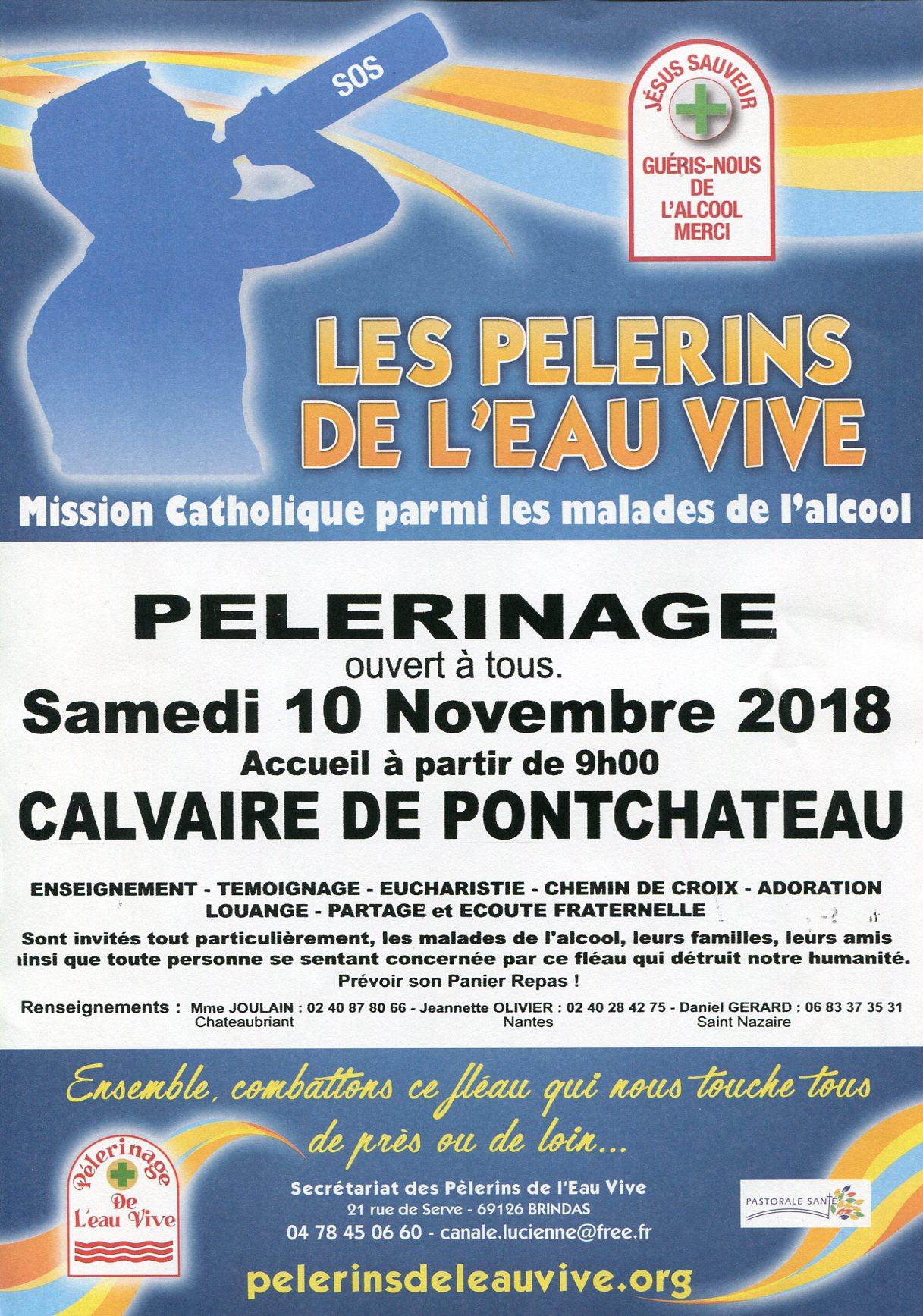 Pèlerinage De Vive Au 2018 Calvaire Pèlerins 10 Des Novembre L'eau qPxwZ1X