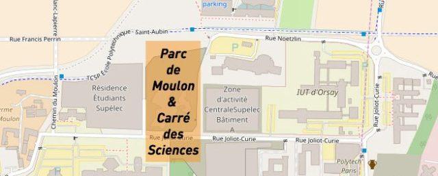Carte - Parc de Moulon et Carré des Sciences