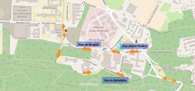 Déviation de la ligne 7 du réseau Mobicaps - quartier de Moulon