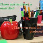 ¿Mejor clases particulares a domicilio o recibir alumnos en casa?