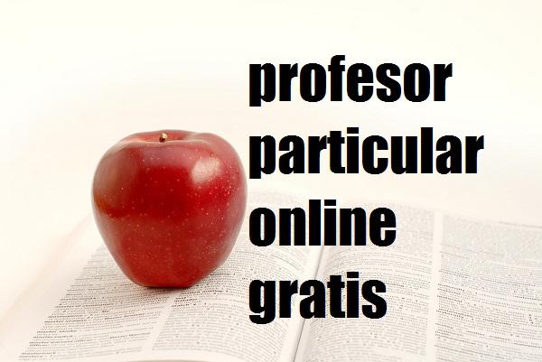 profesor particular online gratis