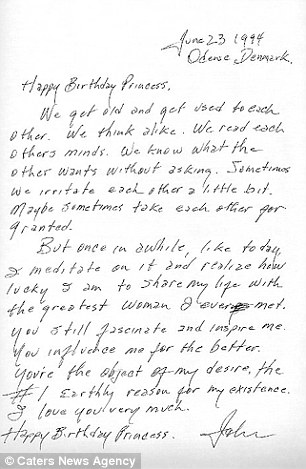 Carta Johnny Cash a June Carter