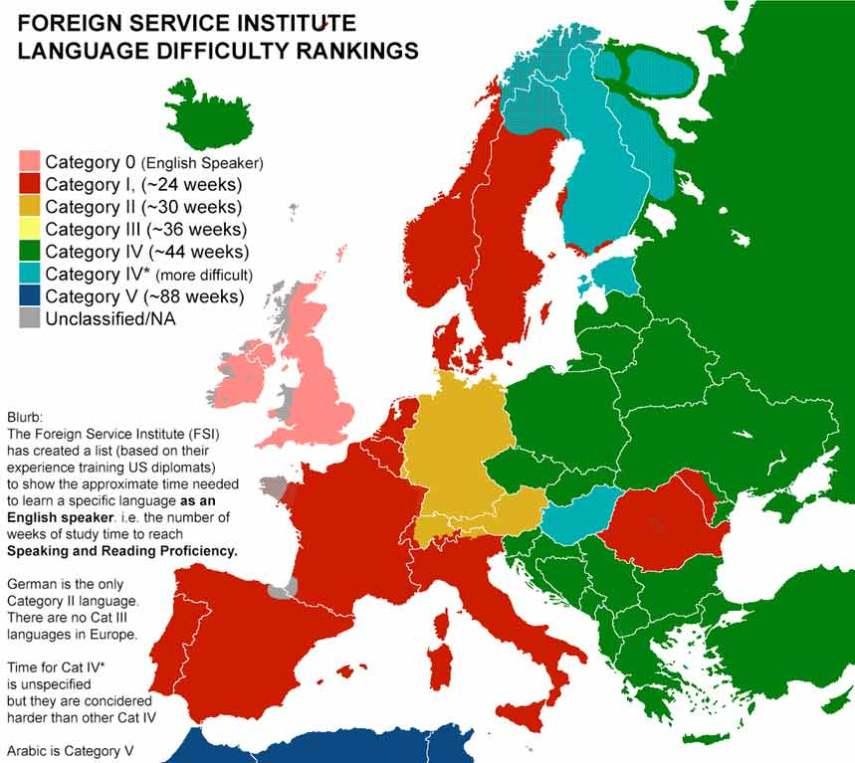 mapa ranking idiomas