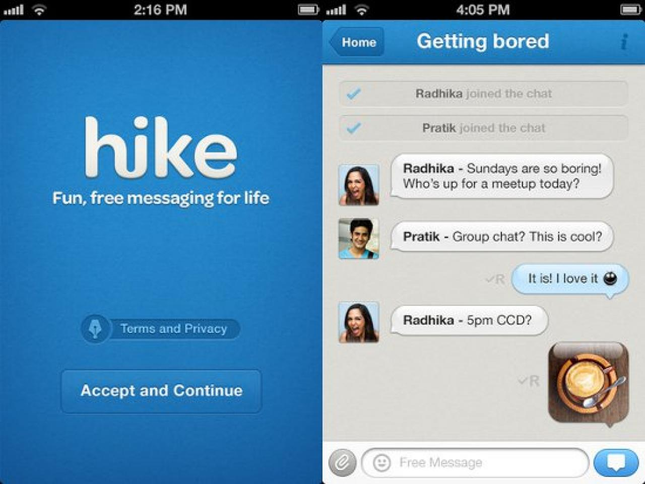 Send Unlimited Free SMS with Hike Messenger - Infocuts com