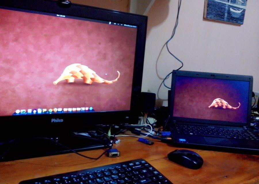 Trocando o monitor principal no Ubuntu