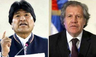 Evo pide renuncia de Almagro